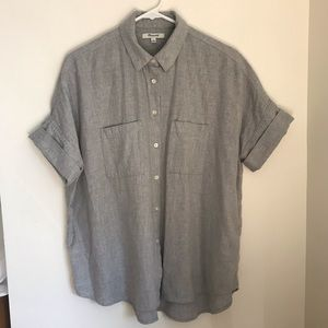 Madewell Grey Flannel Courier Shirt